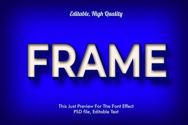モダンなスタイルの3dトレンディなフォント効果、モックアップ Premium Psd