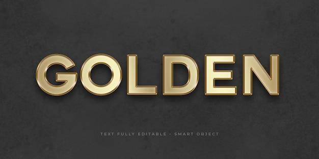 ゴールデン3dテキスト効果 Premium Psd