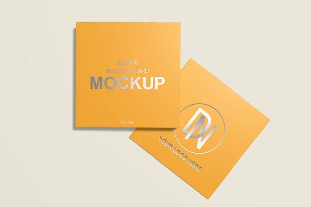 Квадратный макет визитки 4 Premium Psd