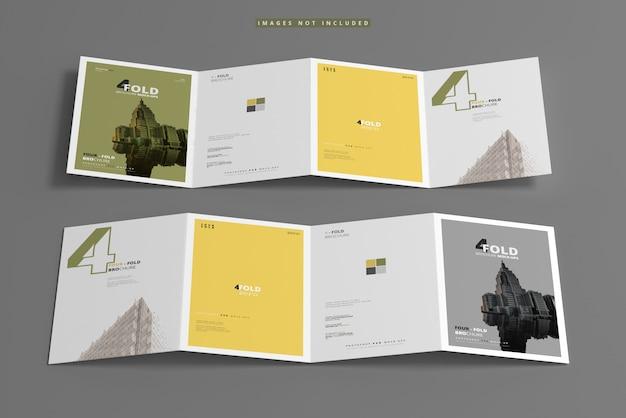 А4 четырехкратный макет брошюры Premium Psd