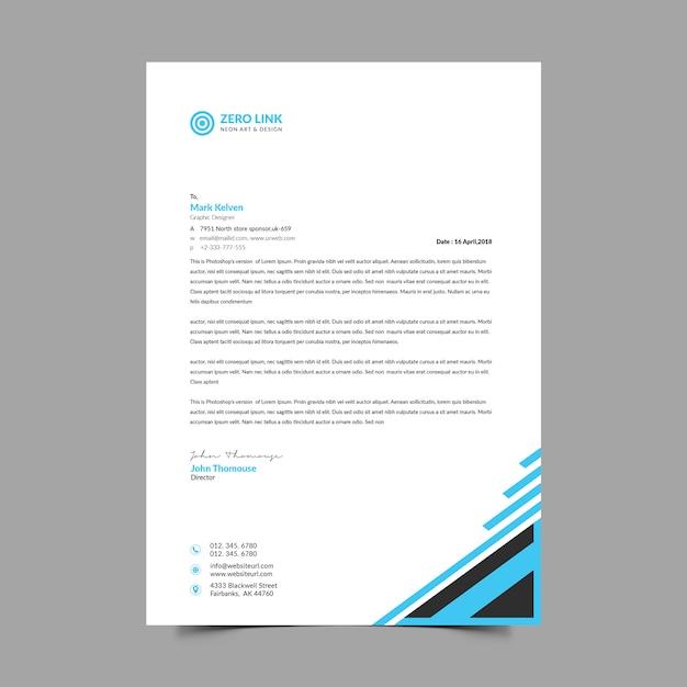 Фирменный бланк а4 Premium Psd