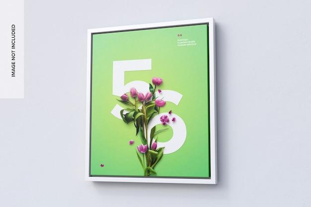 5 : 6 우측 뷰의 세로 프레임 모형 프리미엄 PSD 파일