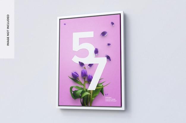 5 : 7 우측 뷰의 세로 프레임 모형 프리미엄 PSD 파일