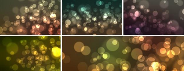 Bokeh Effect Backgrounds: 5 Bokeh Effect Backgrounds PSD File