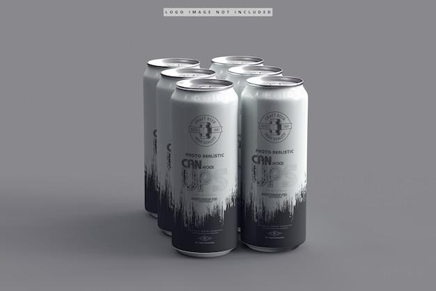500ml soda can mockup Premium Psd