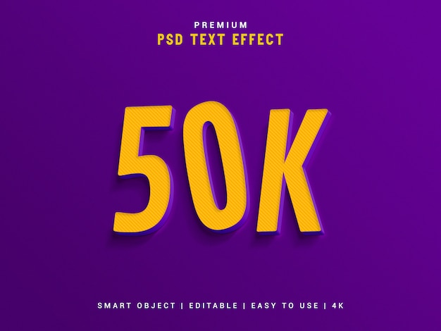 Генератор текстовых эффектов 50к. Premium Psd