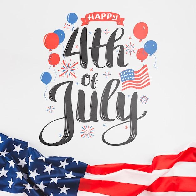 アメリカ合衆国の独立記念日。 7月4日 無料 Psd