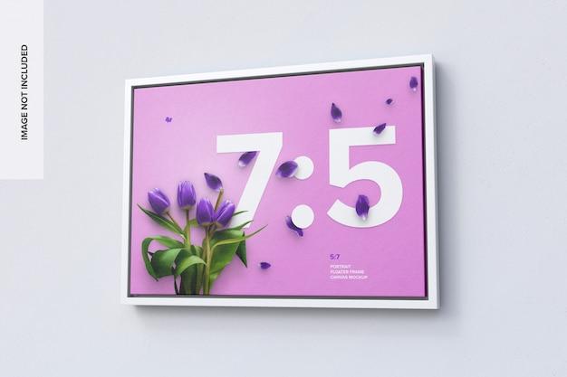 7 : 5 오른쪽 뷰의 가로 프레임 모형 프리미엄 PSD 파일