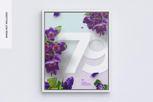 7 : 9 전면의 세로 프레임 모형 프리미엄 PSD 파일