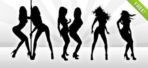 hot girl silhouette