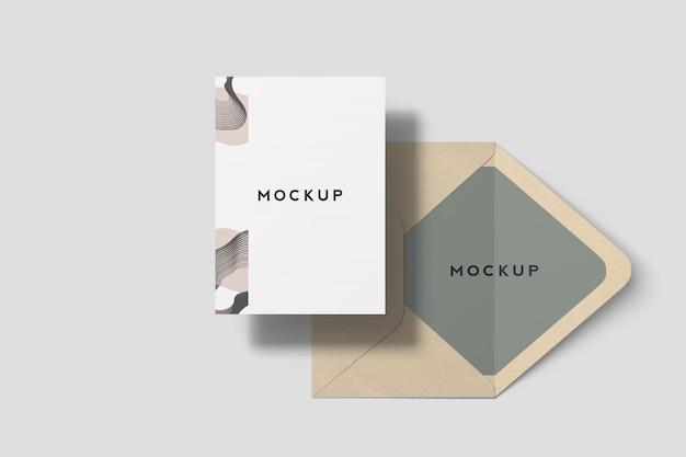 7x5 Inches Invitation Card Mockup Psd File Premium Download