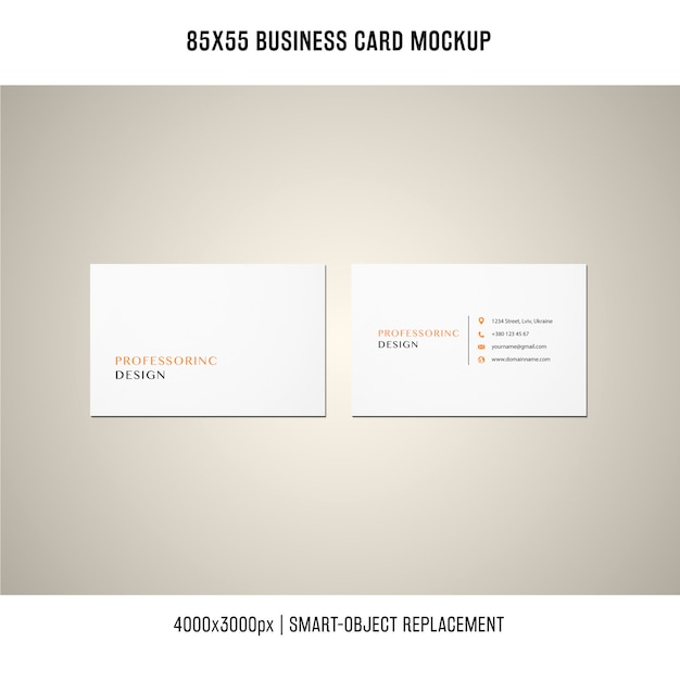 85x55 Business Card Mockup Psd File Free Download