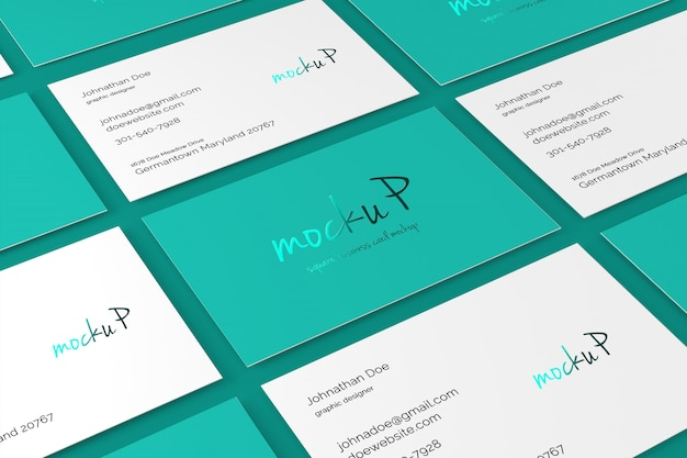 85x55 business card mockup Premium Psd