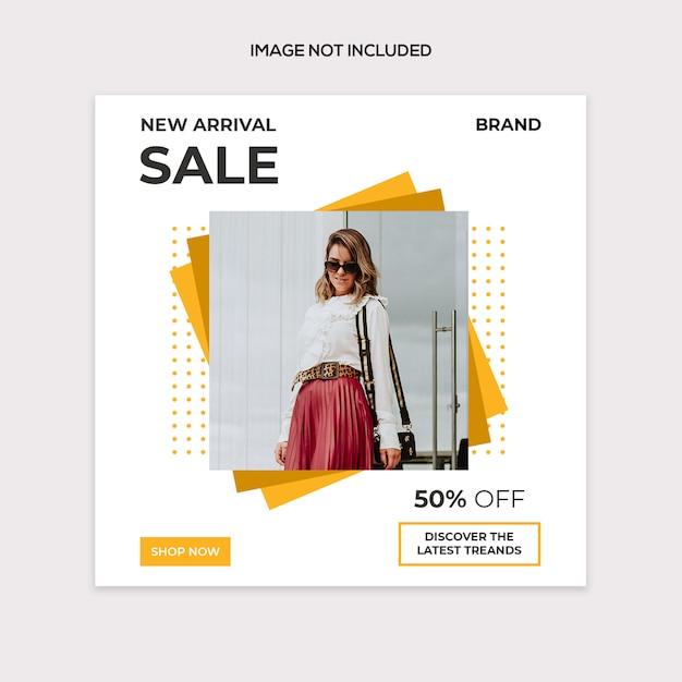 Социальная распродажа современный пост шаблон Premium Psd