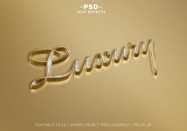 ゴールドテキスト効果 Premium Psd