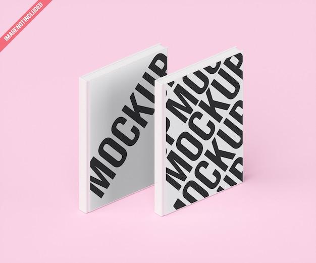 ダブルモデラーホワイトブックモックアップ Premium Psd