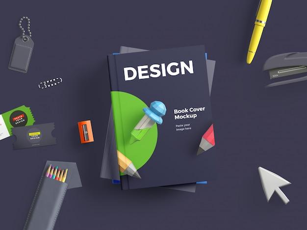 Книжный макет в твердом переплете Premium Psd