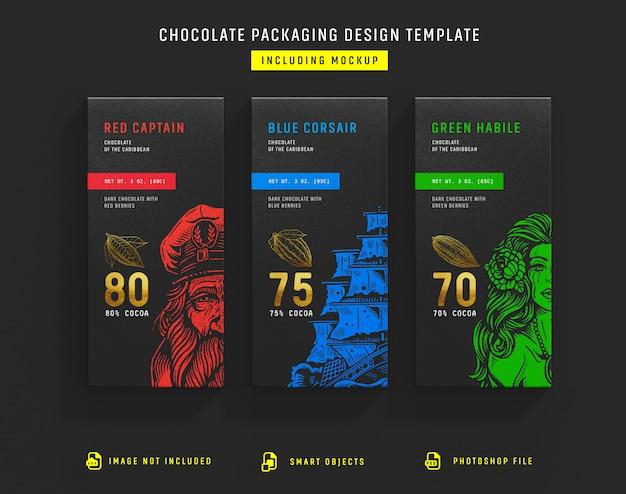 チョコレート包装テンプレート Premium Psd