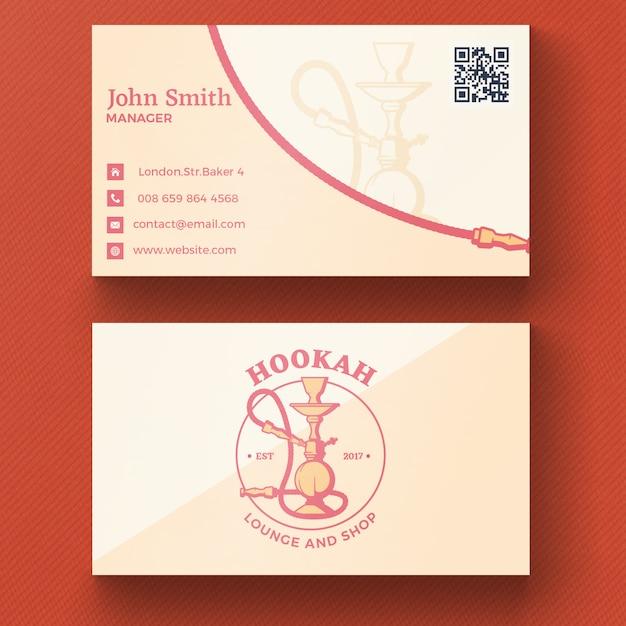 Кальян визитная карточка Бесплатные Psd