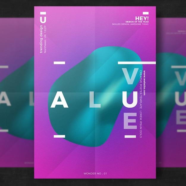 Шаблон творческого плаката Бесплатные Psd