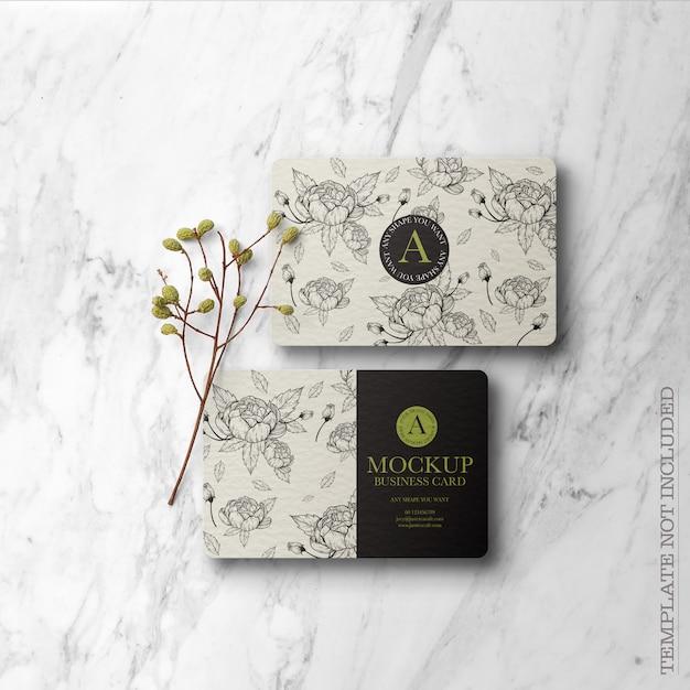 Цветочный макет визитки Бесплатные Psd