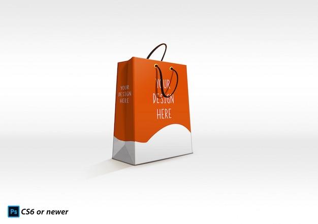 Бумажный пакет макет Premium Psd