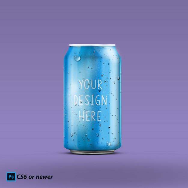 Может макет бутылки Premium Psd