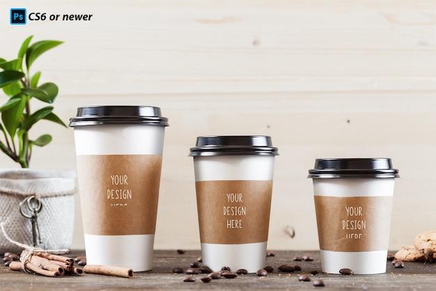 コーヒーカップのモックアップ Premium Psd