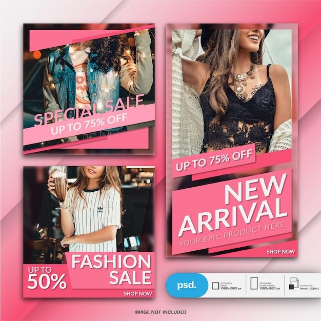 Современная мода веб-баннер социальные медиа шаблон Premium Psd