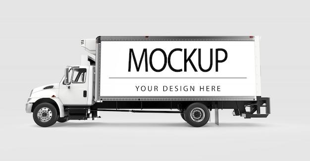 分離されたトラックのモックアップ Premium Psd