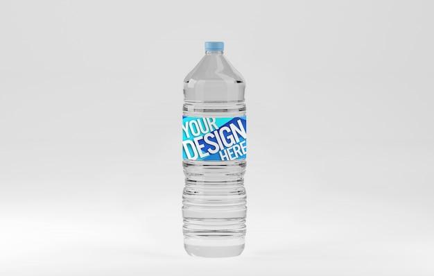 Пластиковая бутылка воды макет Premium Psd