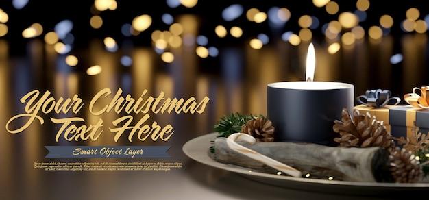 クリスマスシーンのテンプレート Premium Psd