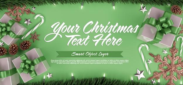 クリスマスシーンのバナー Premium Psd