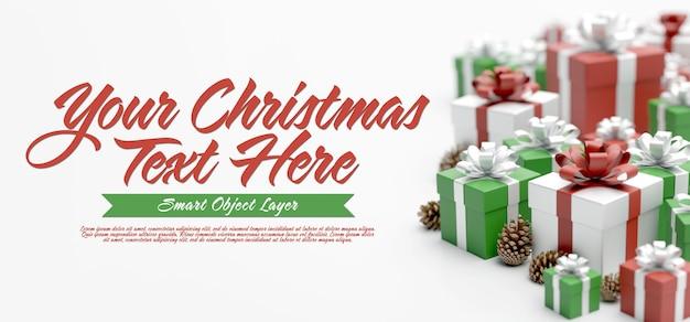 Знамя рождественской сцены Premium Psd