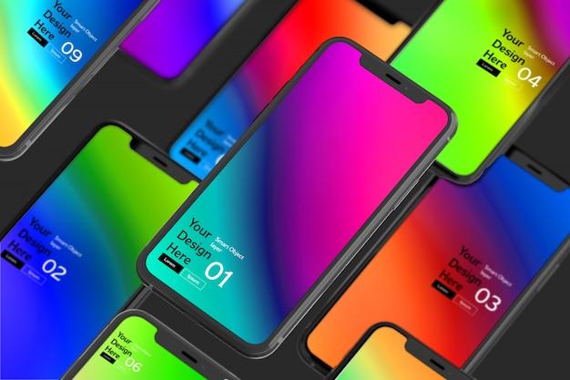 Экран смартфона макет Premium Psd