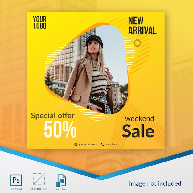 割引セール特別ソーシャルメディアテンプレート Premium Psd