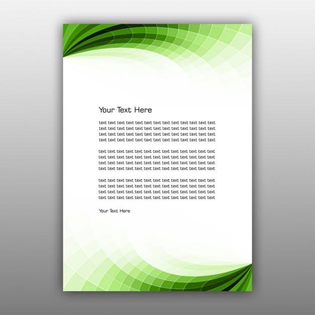 グリーン抽象的なパンフレットのデザイン 無料 Psd