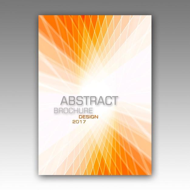 抽象的なパンフレットのテンプレート 無料 Psd