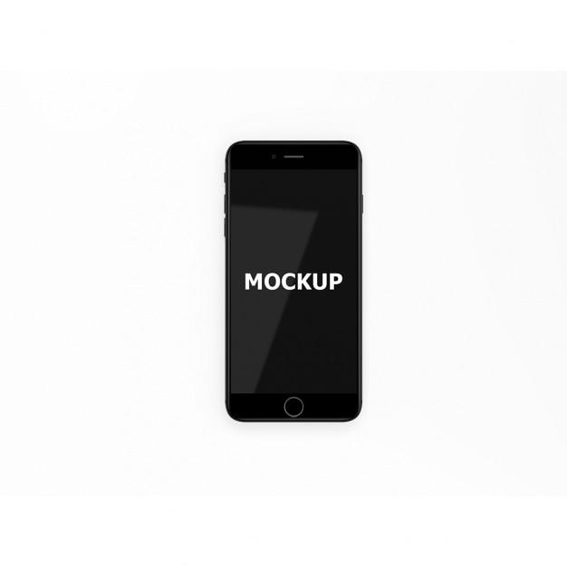 ブラックスマートフォンのモックアップ 無料 Psd