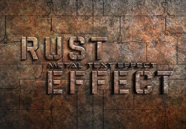 Ржавый металлический текстовый эффект Premium Psd