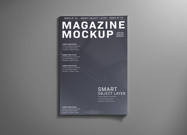 Обложка журнала на сером макете Premium Psd