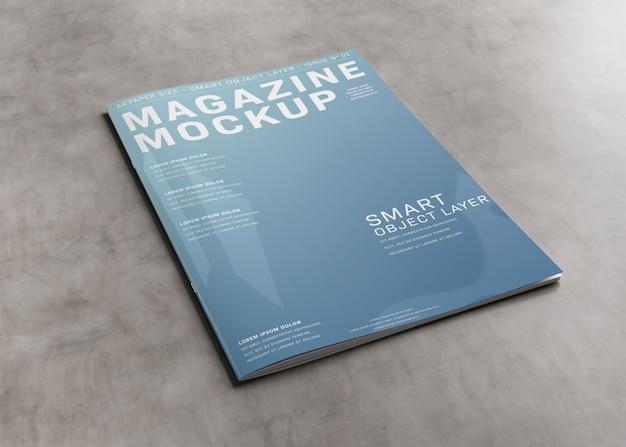コンクリート表面の雑誌の表紙 Premium Psd