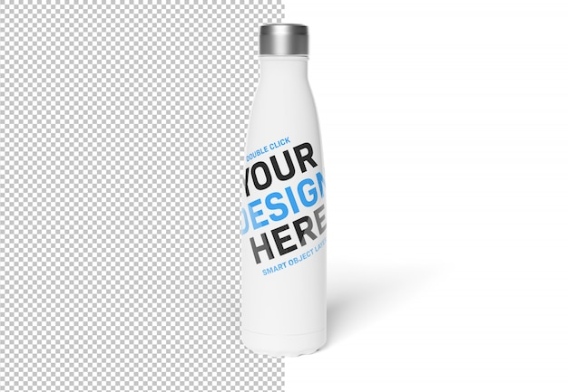 白いモックアップにスポーツボトルを分離カット Premium Psd