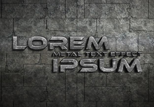 グランジ金属テキスト効果モックアップ Premium Psd