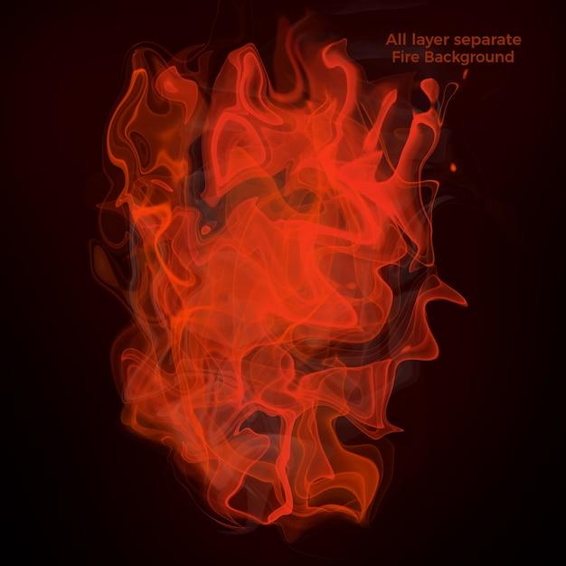 火と炎の背景 Premium Psd