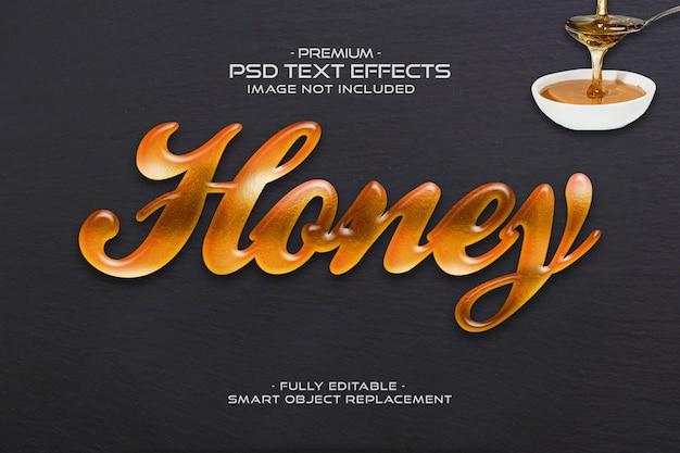 Медовый текстовый эффект Premium Psd