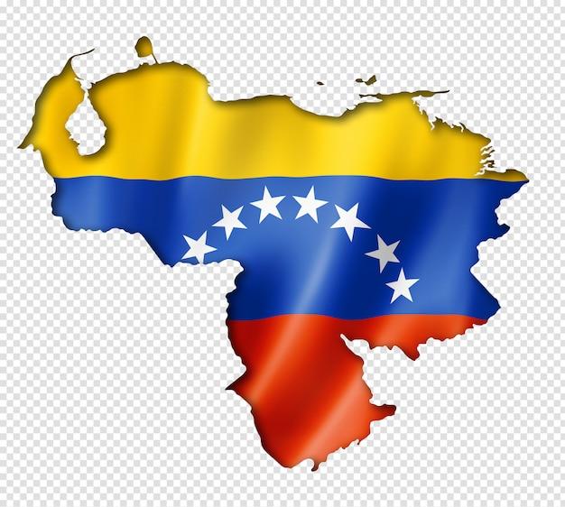 Карта венесуэльского флага Premium Psd