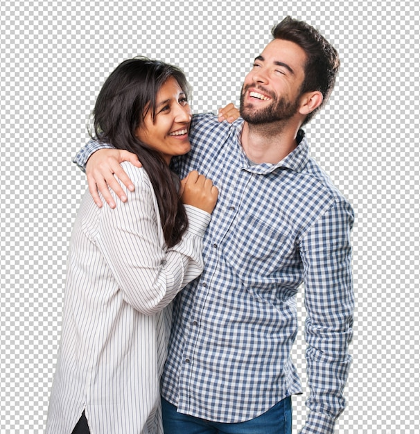 クールなカップルが楽しんで Premium Psd