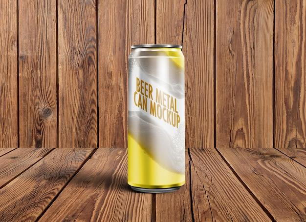 Пиво металл может макет Premium Psd