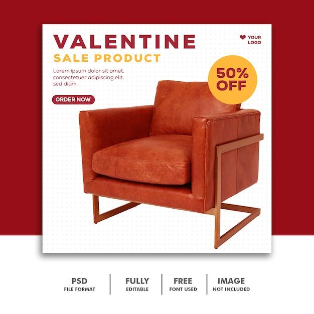 ソーシャルメディアのバレンタイン製品販売ポスト Premium Psd